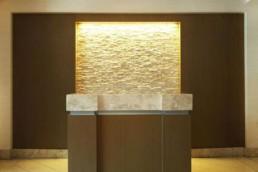 Sygrove Design, Marilyn Sygrove, Concierge Desk Design, Lobby Interior Design, Briar Oaks - Concierge Desk