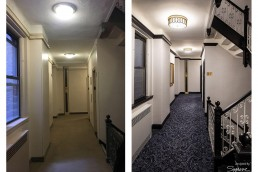 sygrove associates, before and after hallway redesign